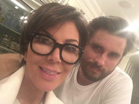 kris jenner and scott disick selfie