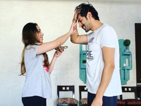 Kartik Aaryan celebrating Bhai Dooj with his sister is literally every brother ever