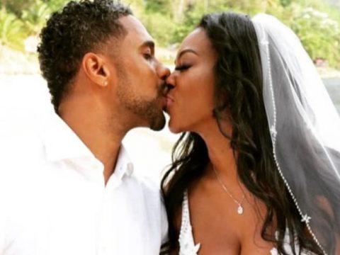 marc daly and kenya moore wedding kiss