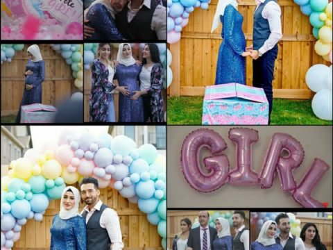 sham idrees and froggy had a baby gender reveal party 7 1
