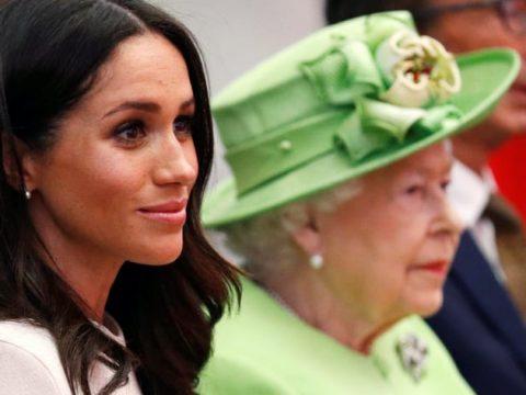 meghan markle and da queen