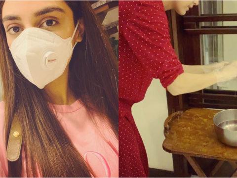 Maya Ali Cleaning Her House 6