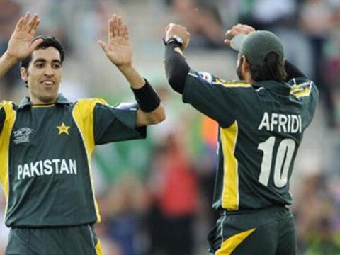 Shahid Afridi and Umar Gul