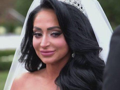 angelina pivarnick as a bride