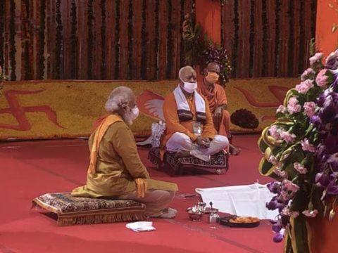 fs2hu4k pm modi mohan bhagwat offer prayers in ayodhya 625x300 05 August 20