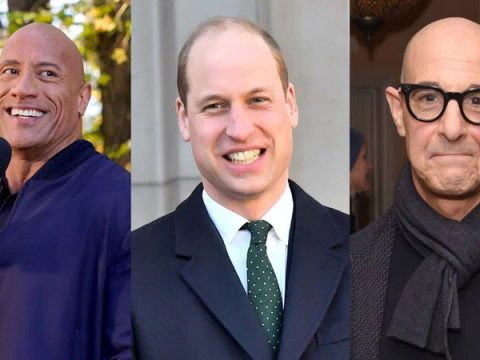 Shaven headed celebs react as Prince William is named sexiest bald man alive