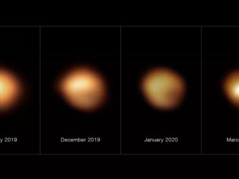 betelgeuse star dimming nature journal 1624265389381