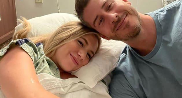 lauren burnham and arie luyendyk jr at hospital