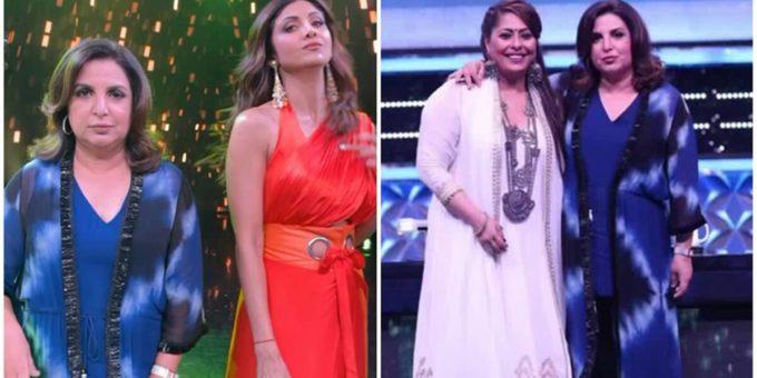 Farah Khan friends reunion with Shilpa Shetty Geeta Kapur on Super Dancer 4 sets watch video 1200
