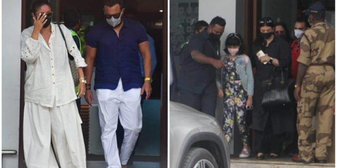 Kareena Saif and kids Taimur Jeh are back from Maldives Aishwarya clicked with daughter Aaradhya Bachchan 1200