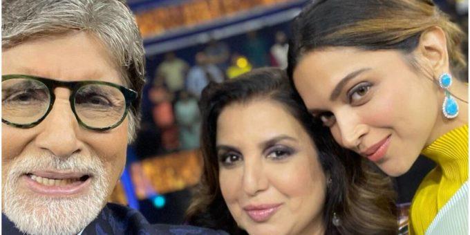 Amitabh Bachchan Farah Khan0 Deepika Padukone KBC13