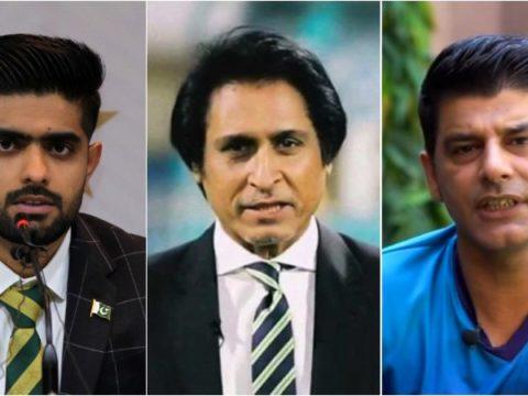 Babar Azam Ramiz Raja Mohammad Wasim meet over World T20 squad