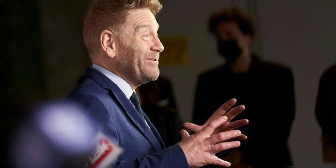 Kenneth Branagh speaks to reporters at the Gala Presentation of Belfast at the Toronto International Film Festival in Toronto Ontario September 12 2021