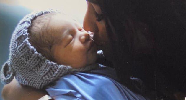 anny francisco kisses baby adriel