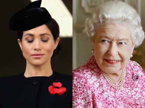 meghan markle queen elizabeth split