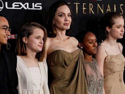 Angelina Jolie and kids 1200