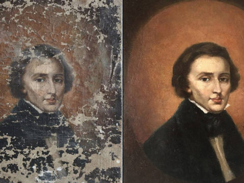 Chopin portrait bought at flea narket is from 19th century