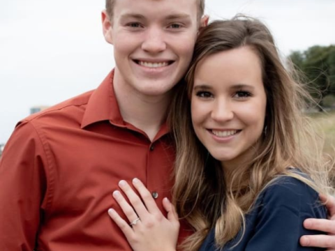 justin duggar and claire spivey engagement photo
